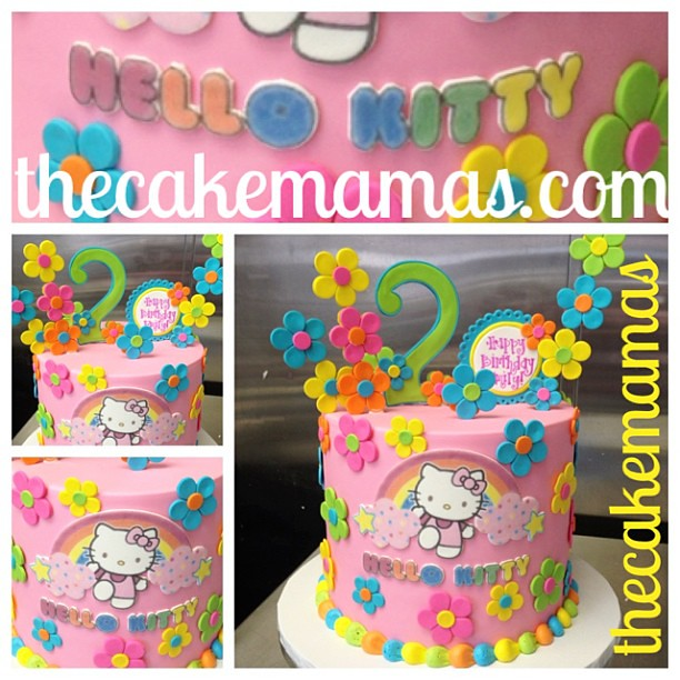 Simple single tier Hello Kitty cake thecakemamas hellok Flickr