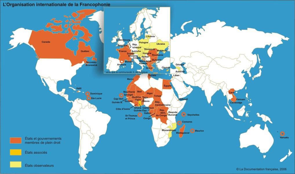 Carte De La Francophonie Jplille Flickr