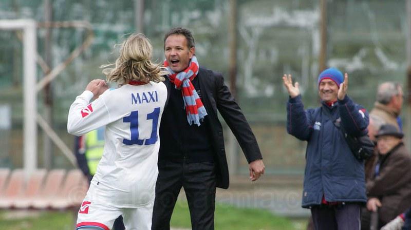 2010: Maxi Lopez insieme a Sinisa Mihajlovic