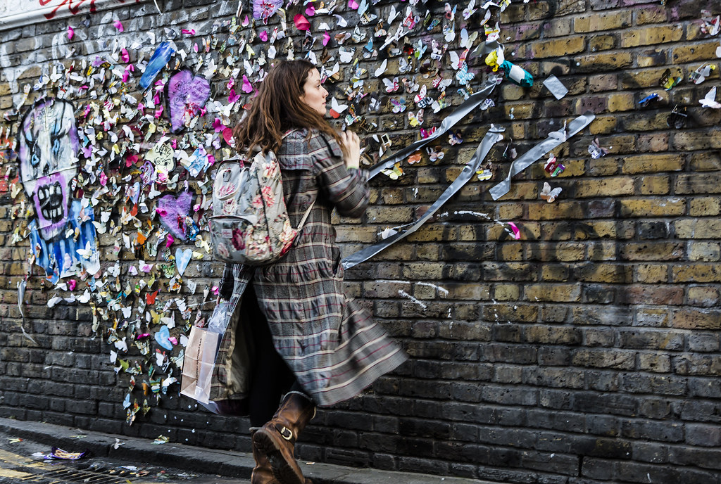 butterfly message wall in brick lane london nicky napkins flickr. Black Bedroom Furniture Sets. Home Design Ideas