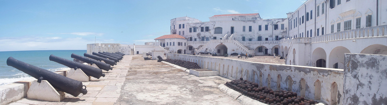 Cape Coast castle – overlooking the sea