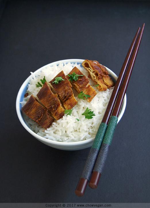Chinese BBQ Yuba Ribs Rice Bowl   Chow Vegan