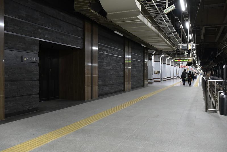 上野駅の四季島専用ホーム