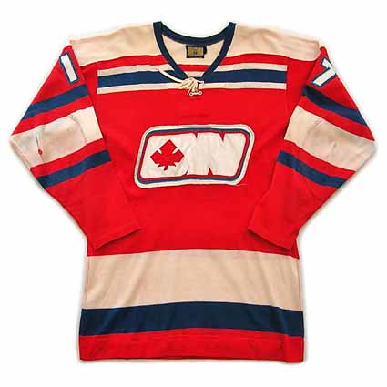 Ottawa Nationals 1972-73 R F jersey