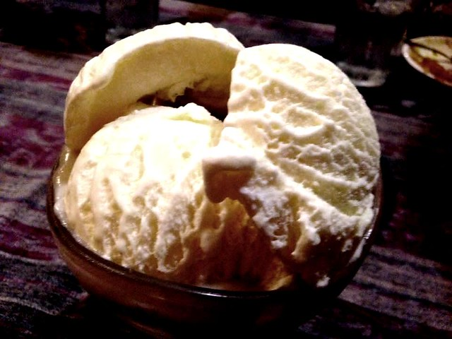 Payung Cafe durian ice cream