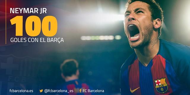 100 Goles de Neymar con el FC Barcelona