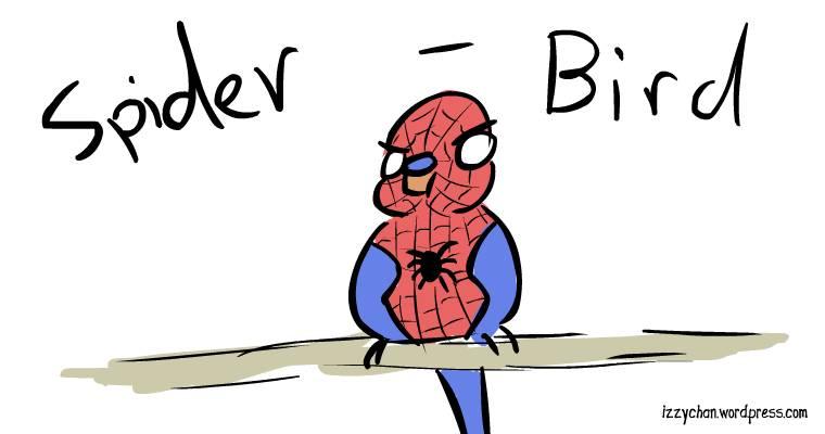 spider budgie super hero spider man