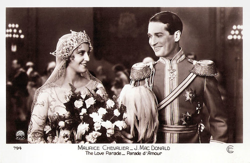 Maurice Chevalier and Jeanette MacDonald in The Love Parade (1929)