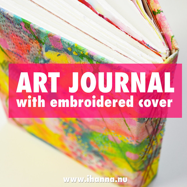 My New Hand Bound Art Journal with Embroidered Cover
