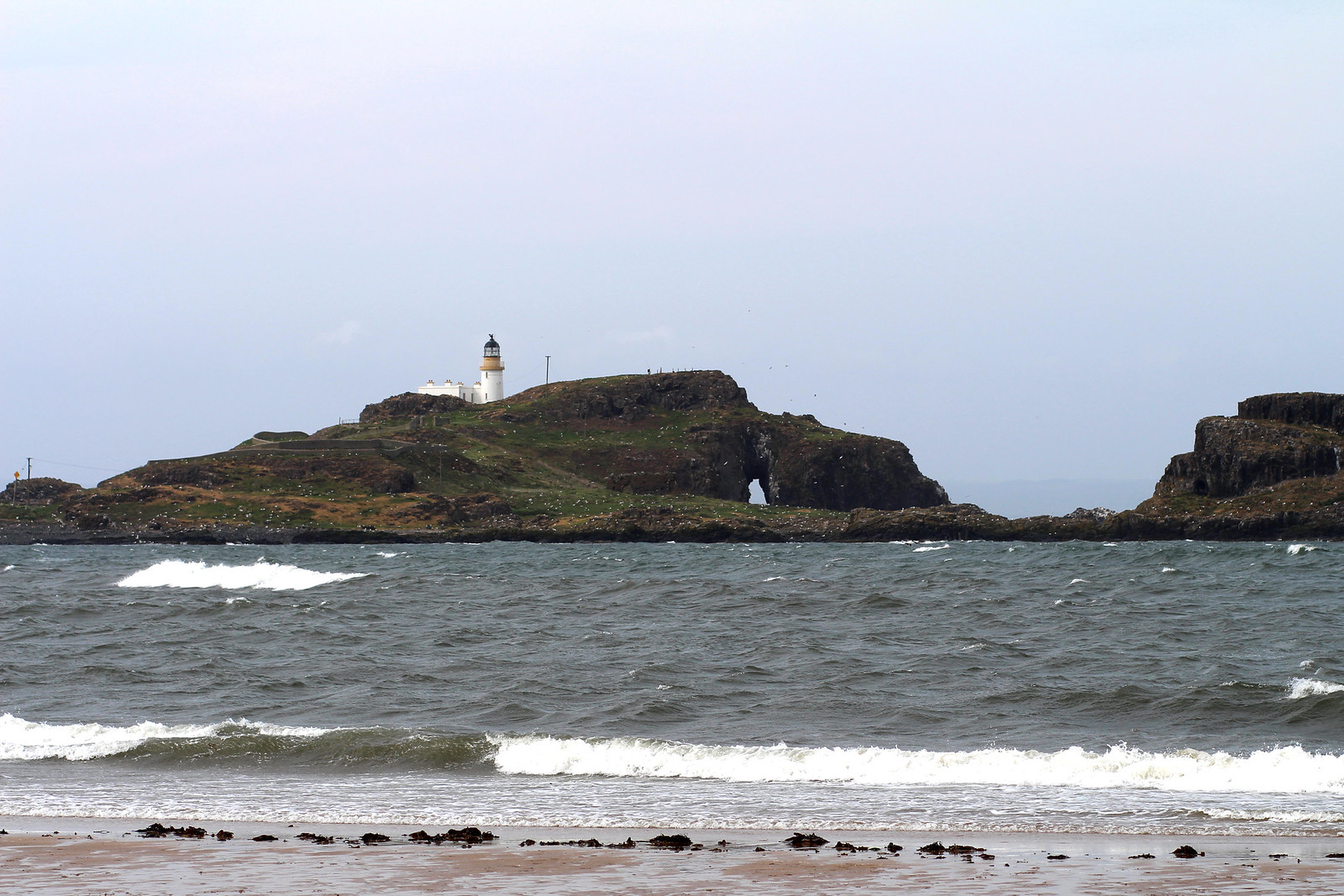 Yellowcraigs beach East Lothian Scotland, travel lifestyle blogger UK