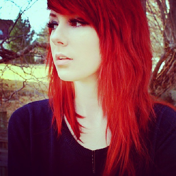 #pretty #emo #girl #cute #hair #lips #face #fashion #cool ...