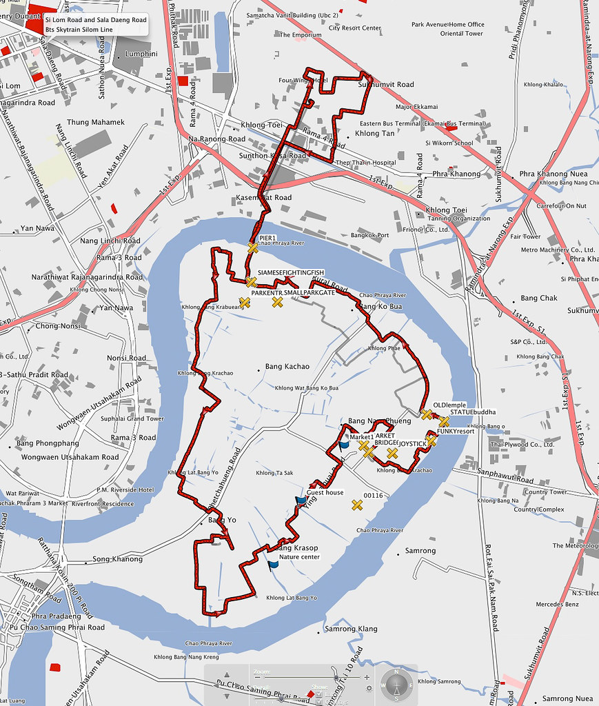 Map of bike ride, Bang...