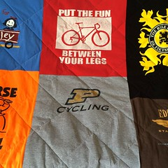 Cycling T-Shirt Quilt Purdue