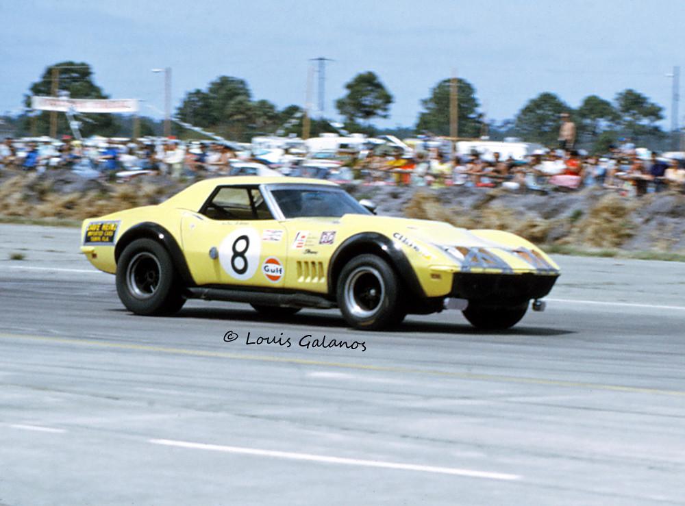 Heinz Costanzo Corvette At Sebring 1970 Dave Heinz And