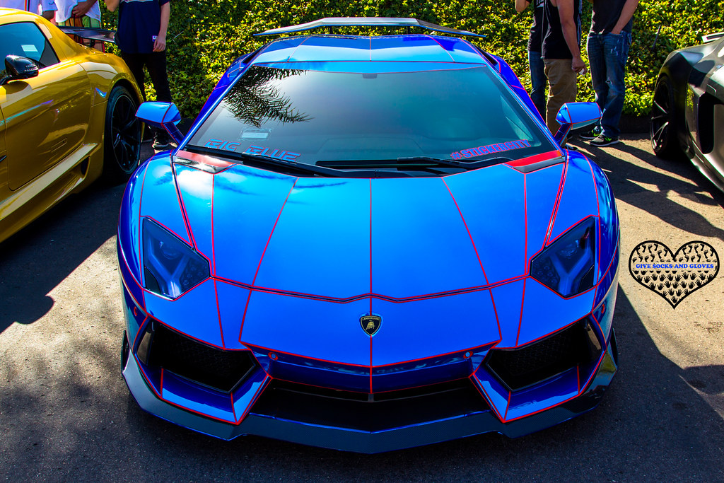 tron lamborghini aventador blue chrome lamborghini aventad flickr. Black Bedroom Furniture Sets. Home Design Ideas