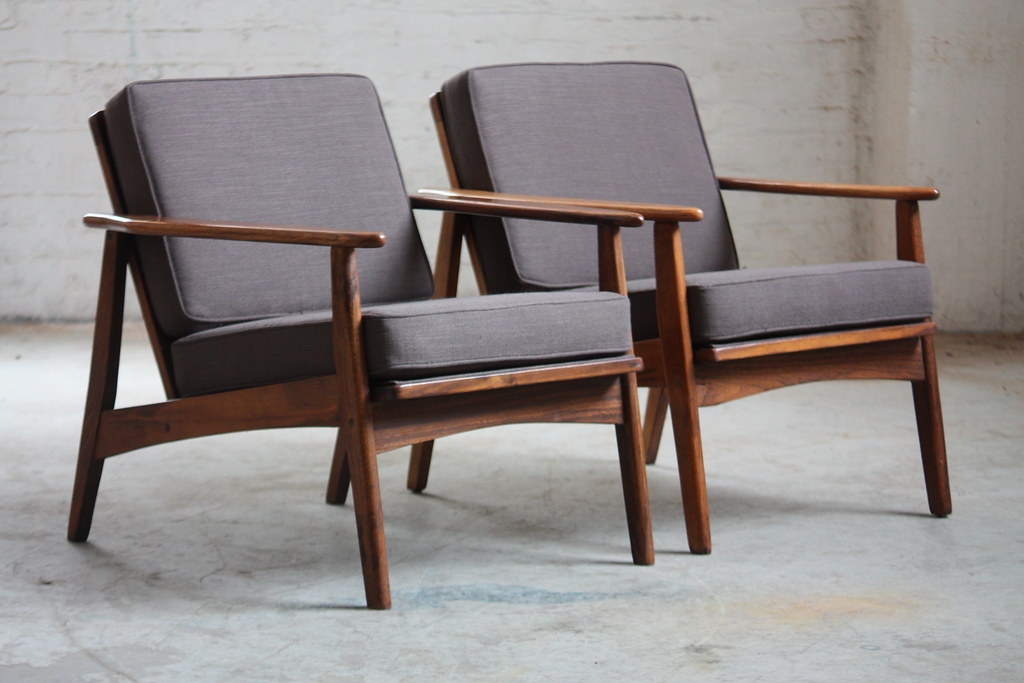 ... Alluring Mid Century Danish Modern Walnut Lounge Chairs (1960s) | By  Kennyk@k2modern