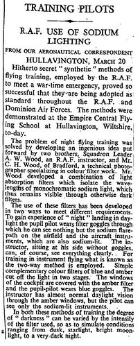20th March 1946 - CH Wood : Sodium lighting for the RAF | by Bradford Timeline