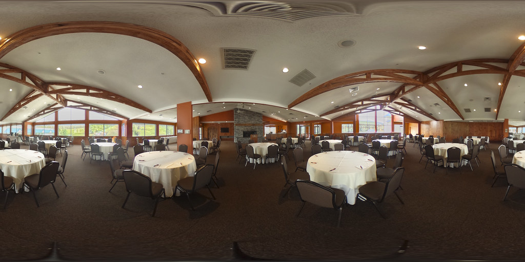 Image: 360-degree image of the Alpine Room in the Alpine Lodge