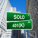 Solo 401(k) Wall Street Sign