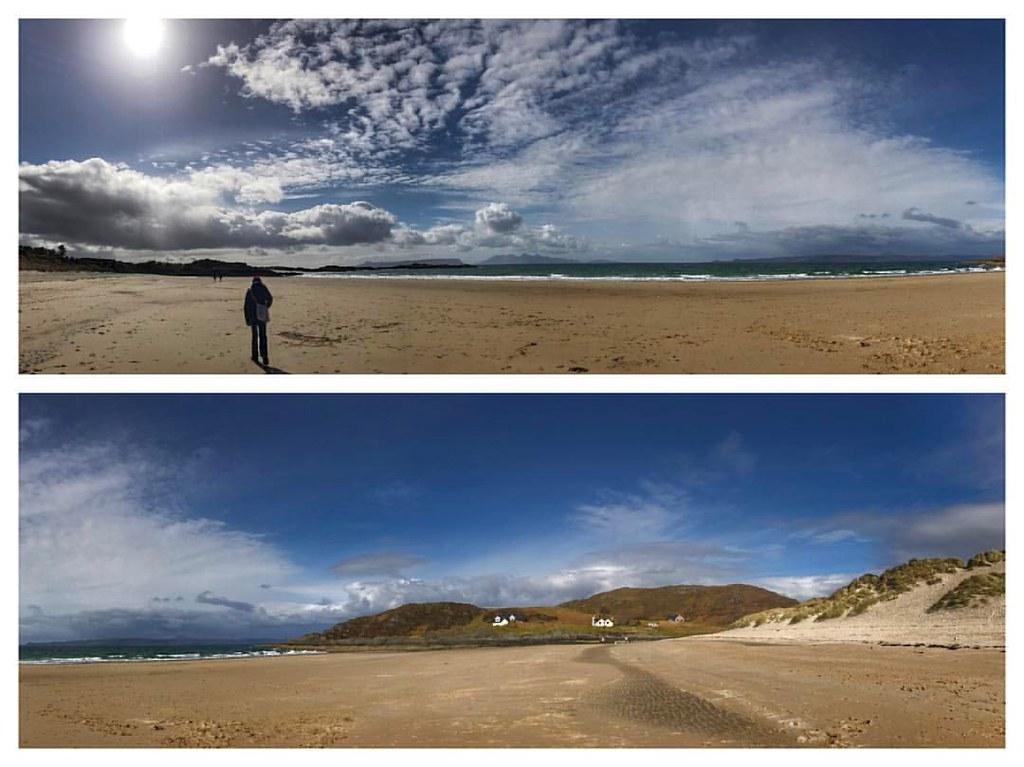 Chris on the amazing Camusdarach beach. iPhone 7 plus pano… | Flickr