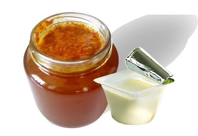 mật ong và sữa chua không đường