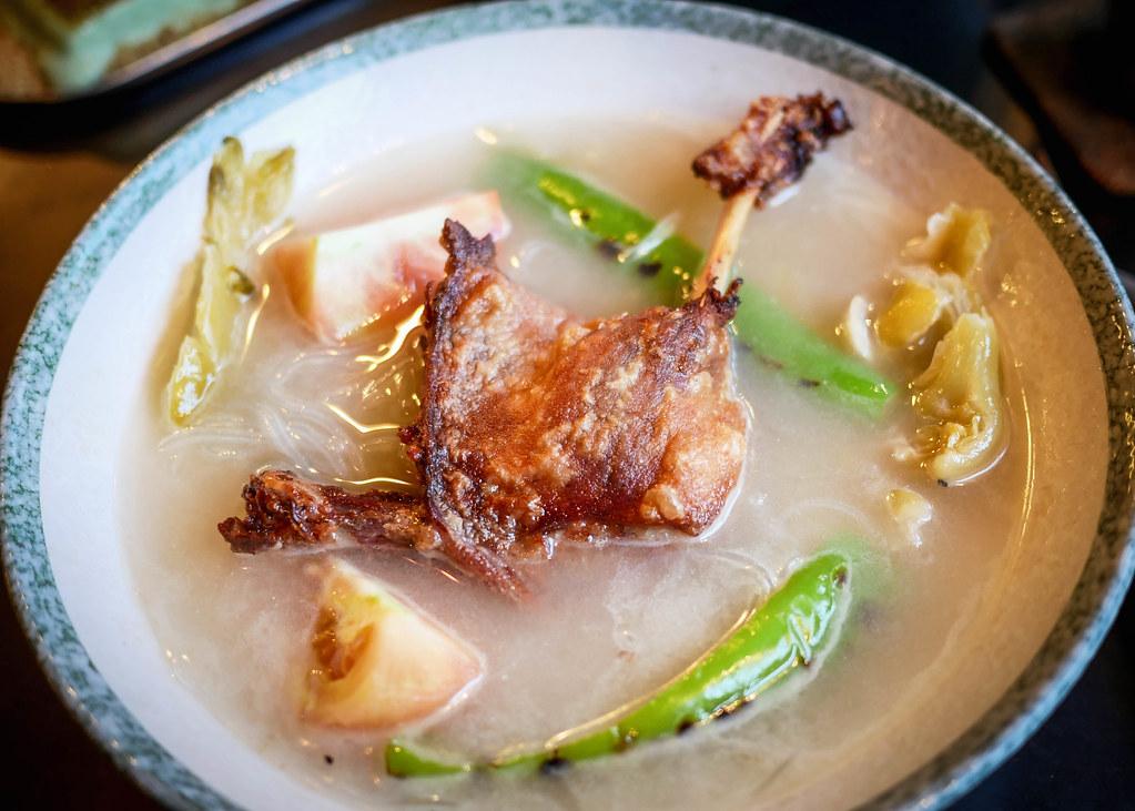 duck confit soup
