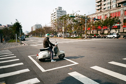 The Vespa Rider in Taipei.