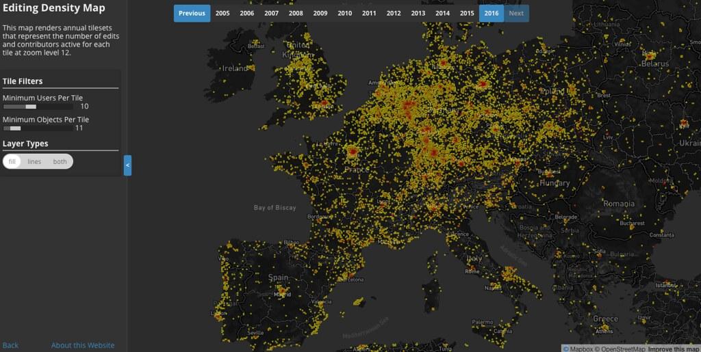 image of european contributor density