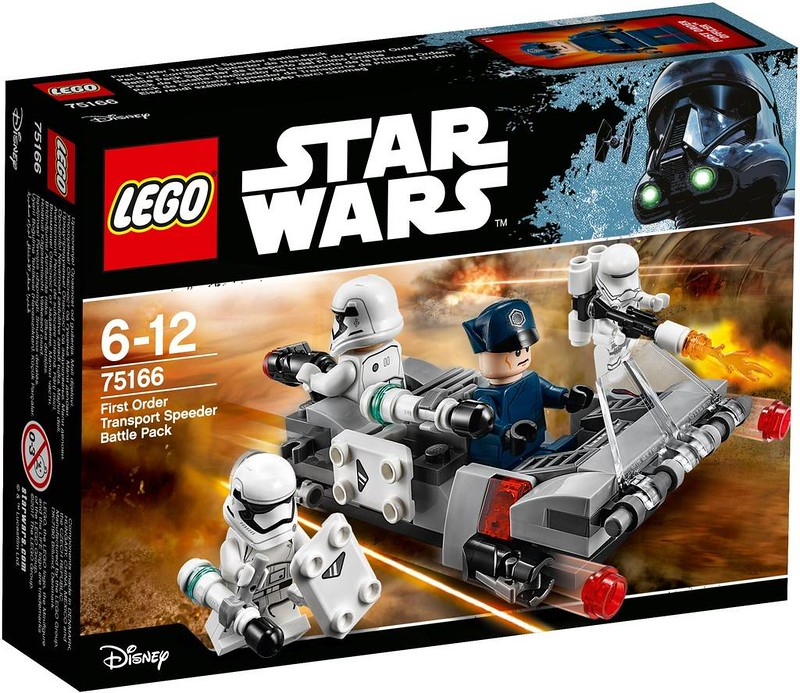 LEGO Star Wars Estate 2017 - First Order Transport Speeder Battlepack (75166)