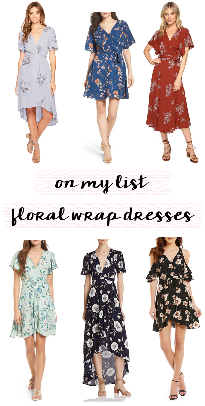 floral wrap dresses