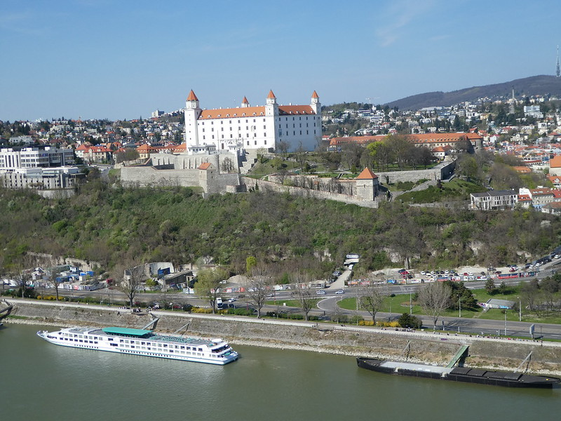 Bratislava Castle taken from the top of the UFO Tower