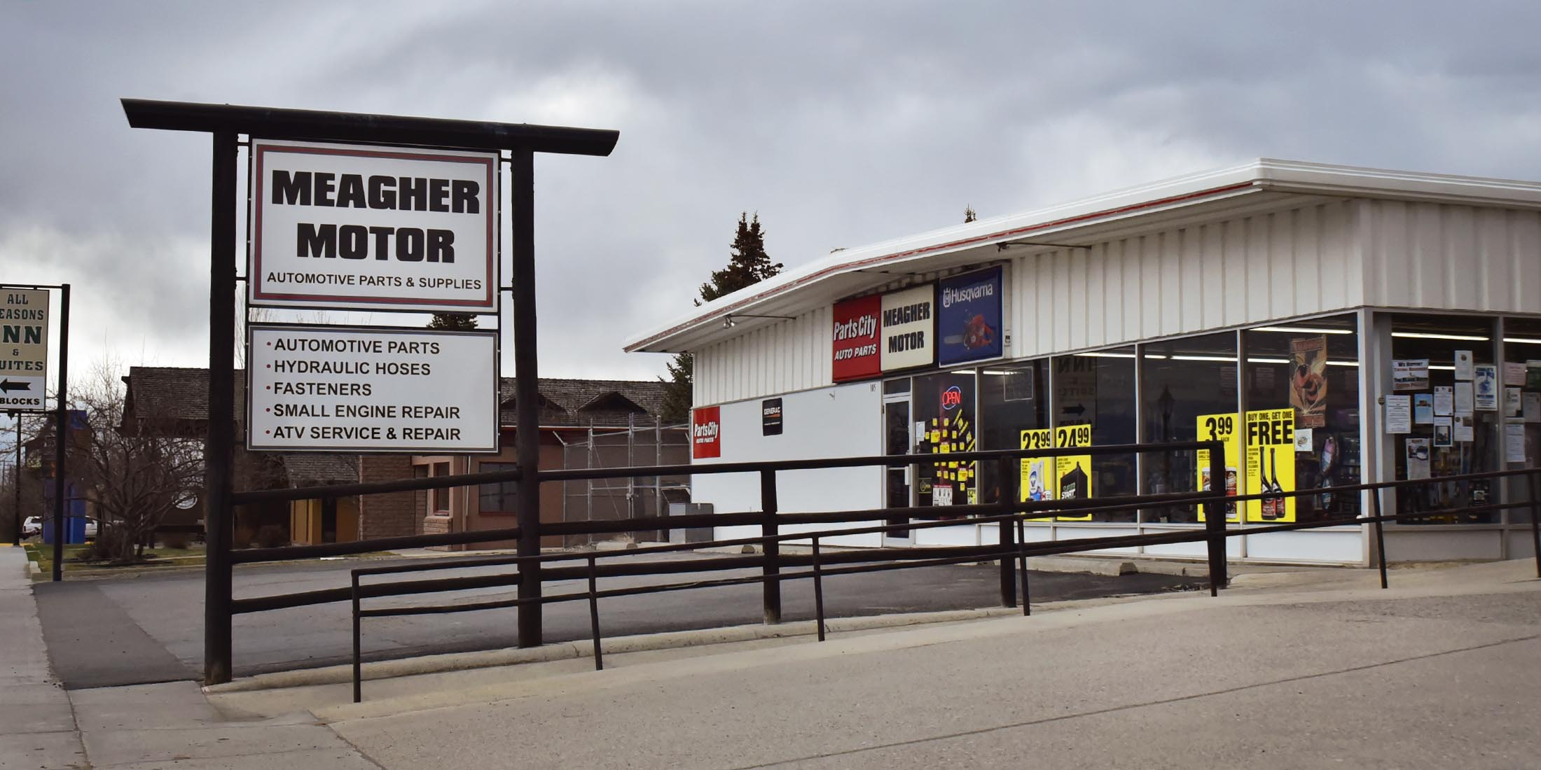 Information about the auto parts store, Meagher Motor, located in White Sulphur Springs, Montana - Meagher County.