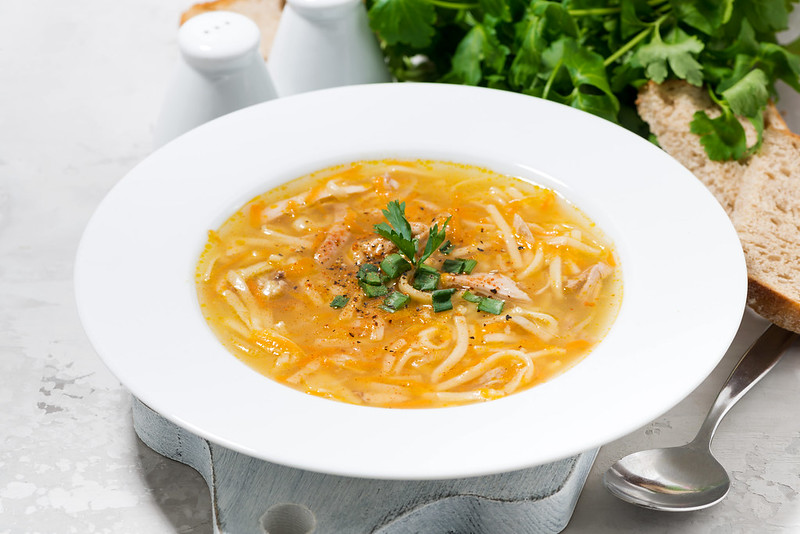 plate of chiсken soup