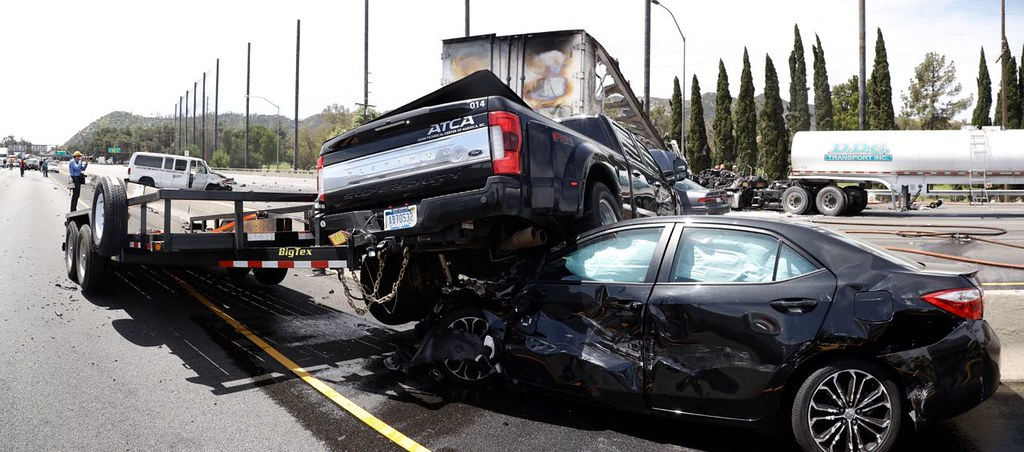 LAFD Responds to Fiery Fatal Collision on Golden State Freeway