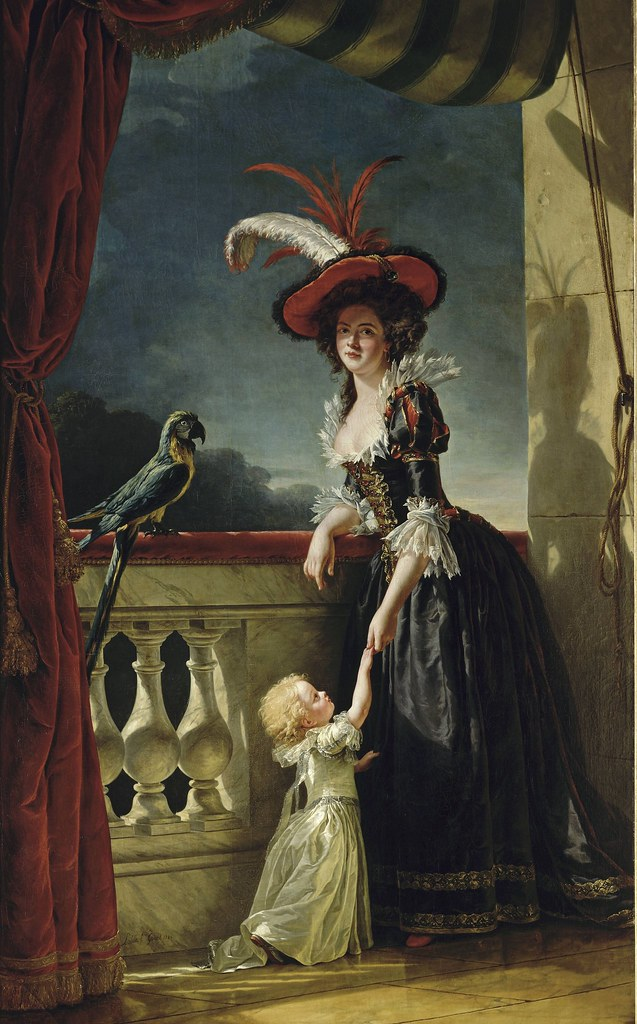 Adélaïde Labille-Guiard - Mme Louise-Elisabeth with her two year old son