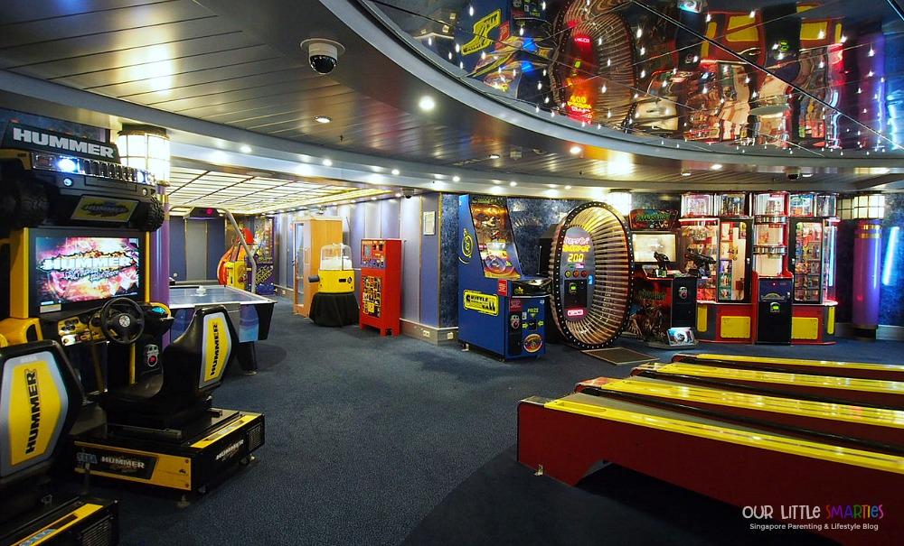 Video Arcade on Mariner of the Seas