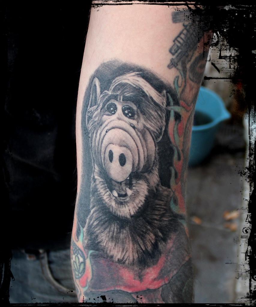 Alf Auto Tattoo En El Brazo Cicatrizado Wwwflickrcom Flickr