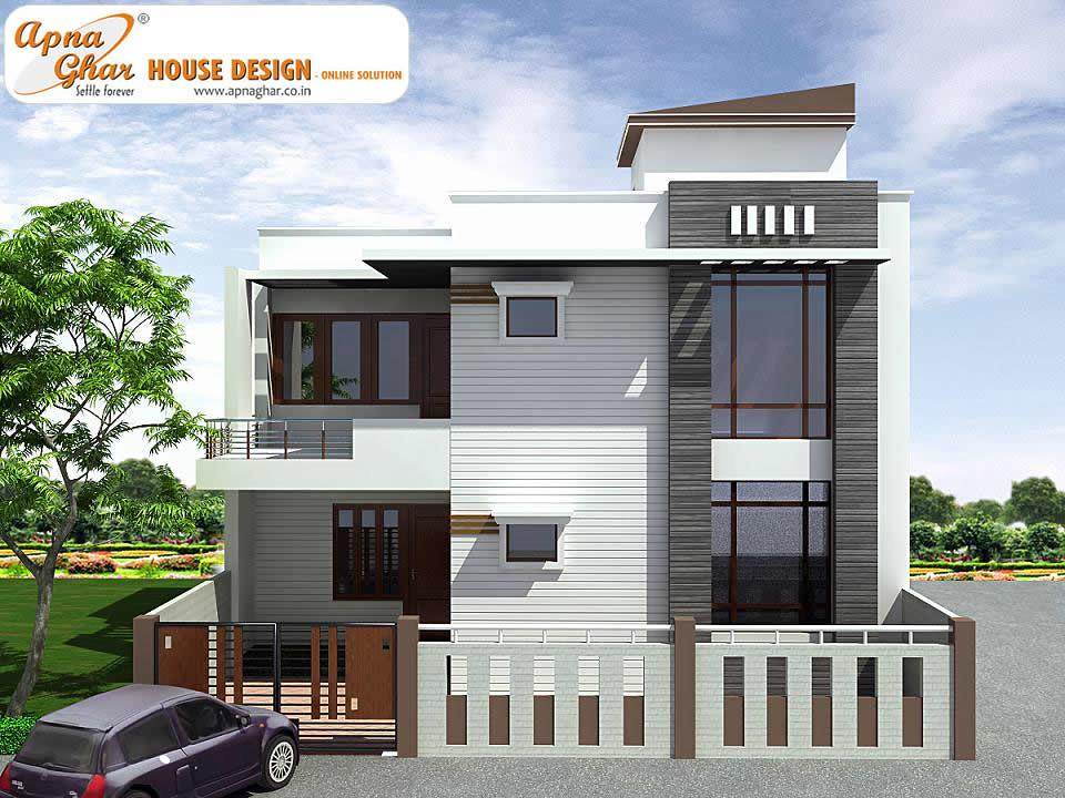 Two Floor Elevation Designs : Duplex house design bedrooms m