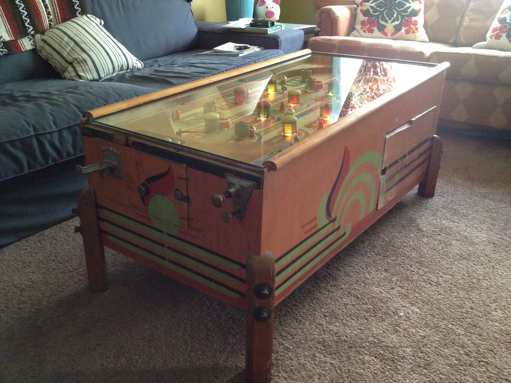Pinball machine coffee table its a 1940 bally triumph if flickr pinball machine coffee table by tgtsfkncld geotapseo Image collections