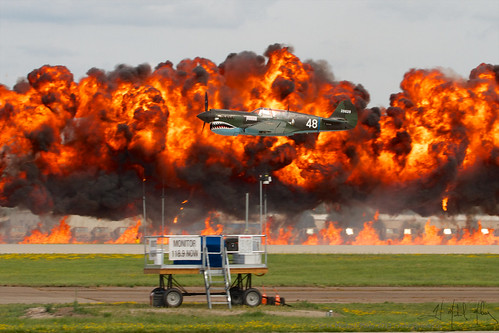 P40 on Fire | by Mike Miley