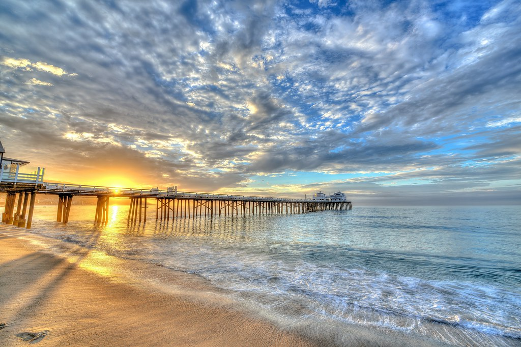 Malibu Pier! Nikon D800E HDR Socal / Malibu Landscape / Se ...