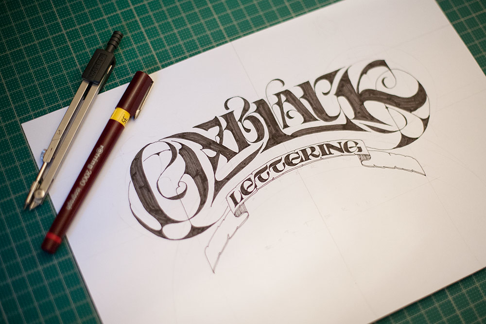 Oxblack lettering sketch trying out an idea for a self pro flickr oxblack lettering sketch by andreas ejerfors altavistaventures Image collections