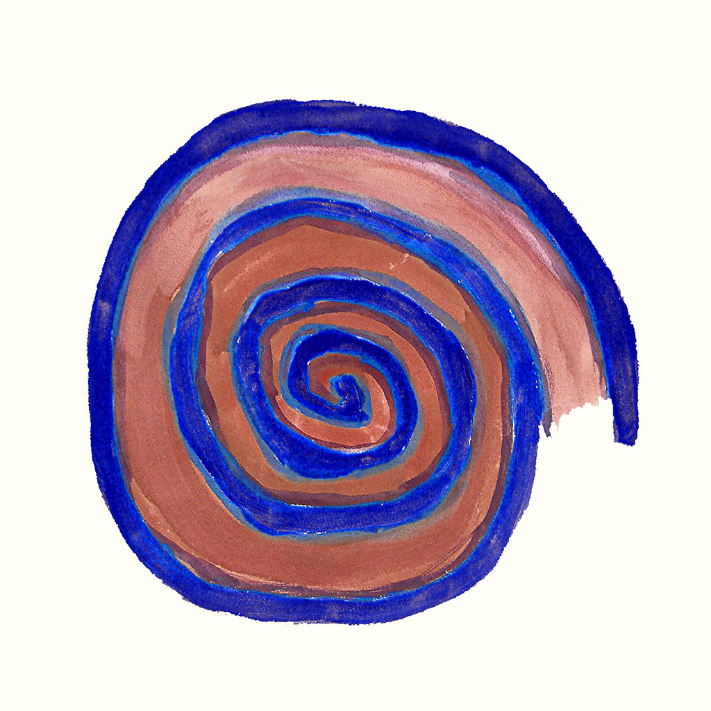 2000 - 'Blue brown spiral mandala', no 6.320 in a print-ar ...
