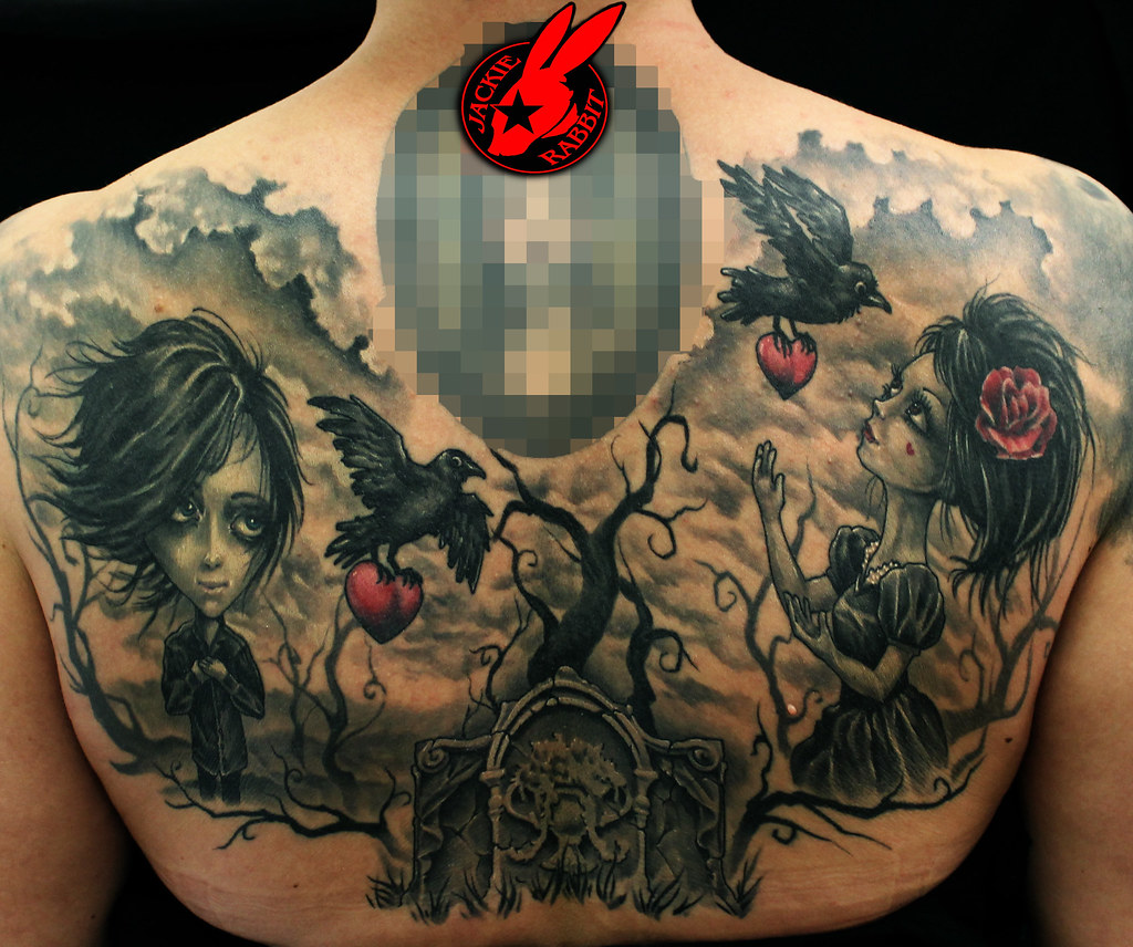 Gothic Back Tattoos