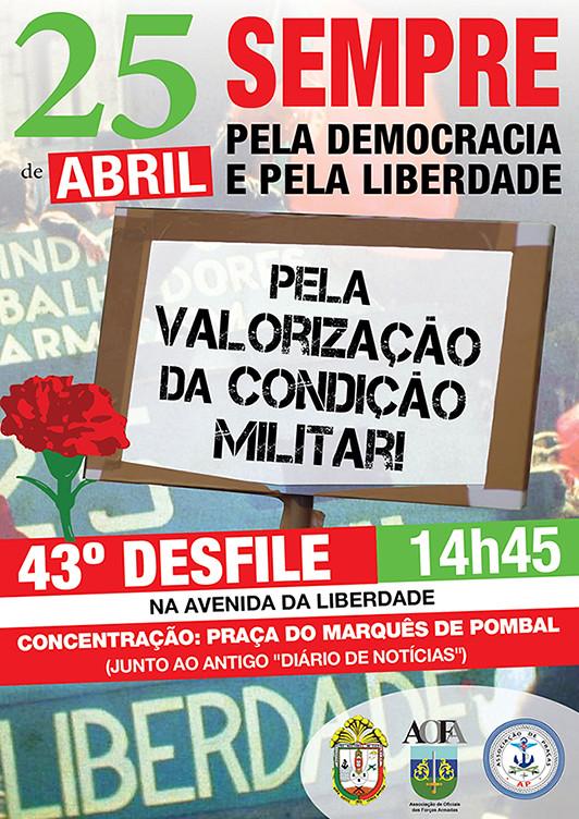 AP cartaz desfile 25 abril