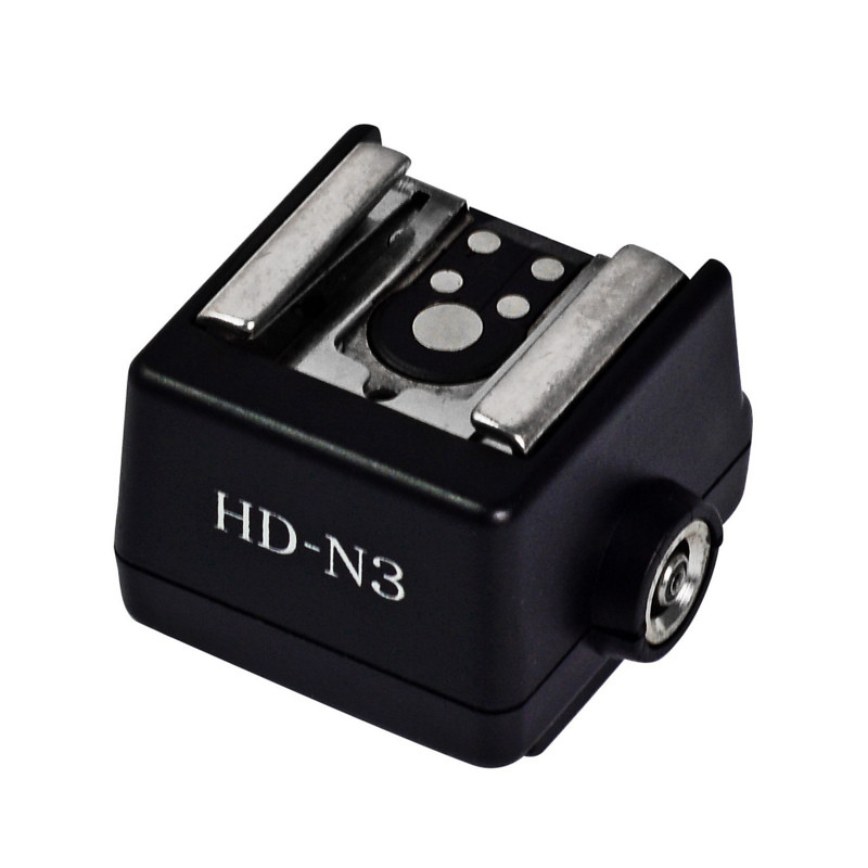 hd-n3 sony camera iiso hot shoe adapter to standard iso canon nikon flash