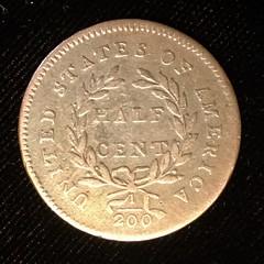 1794 half cent reverse