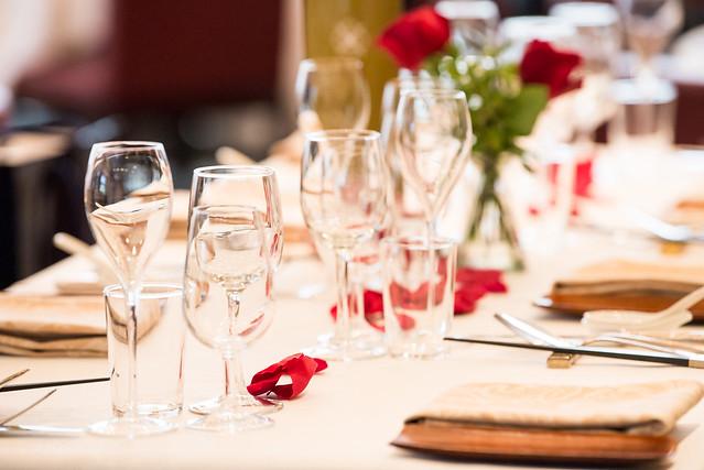 挙式のテーブル