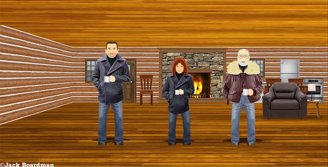 Sarah & Jay arrived at Boomer's Cabin ©Jack Boardman