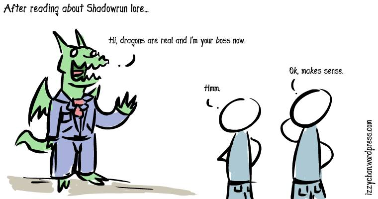 dragons are real shadowrun lore